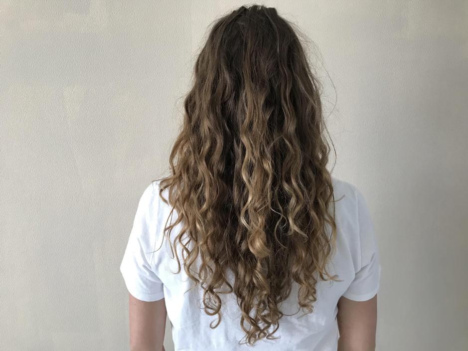 agnes probeert de curly girl methode
