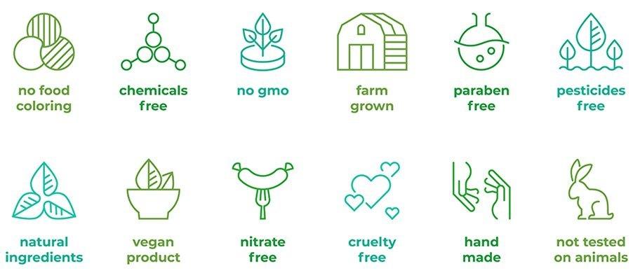 Vegan, Cruelty Free, Niet Getest op Dieren