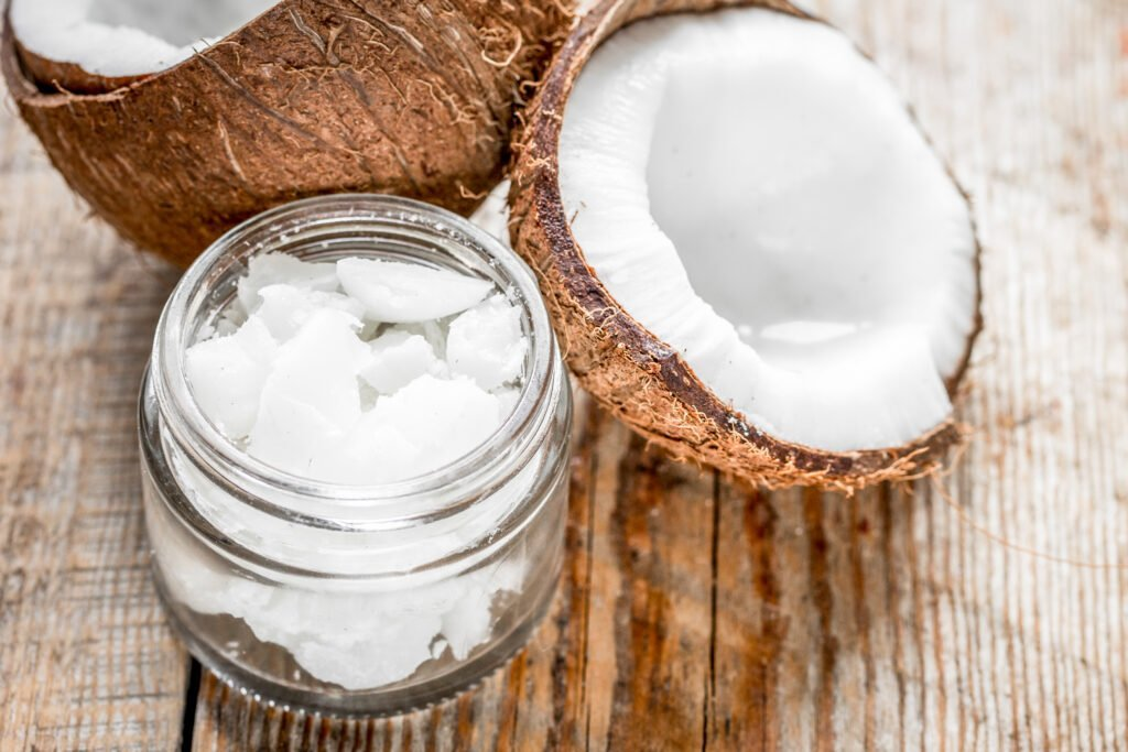 Coconut,Oil,For,Body,Care,In,Cosmetic,Concept,On,Old