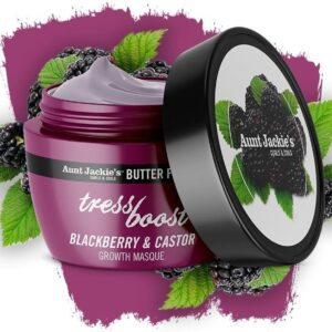 AUNT JACKIE'S BUTTER FUSIONS TRESS BOOST BLACKBERRY & CASTOR GROWTH MASK 227G