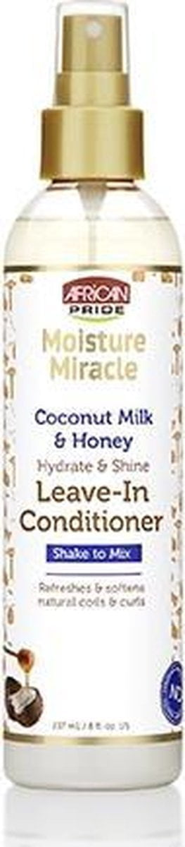 African Pride Moisture Miracle Coconut Milk & Honey Hydrate & Shine Leave-In Conditioner 237ml