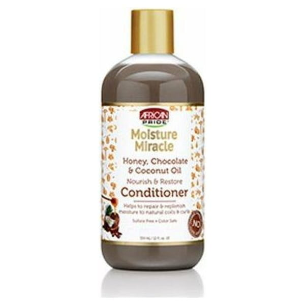 African Pride Moisture Miracle Honey, Chocolate & Coconut Oil Nourish & Restore Conditioner 354ml