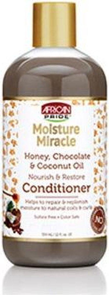 African Pride Moisture Miracle Honey, Chocolate & Coconut Oil Nourish & Restore Conditioner 354ml