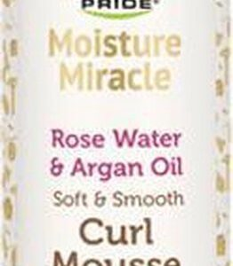 African Pride Moisture Miracle Rose Water & Argan Oil Soft & Smooth Curl Mousse 251ml