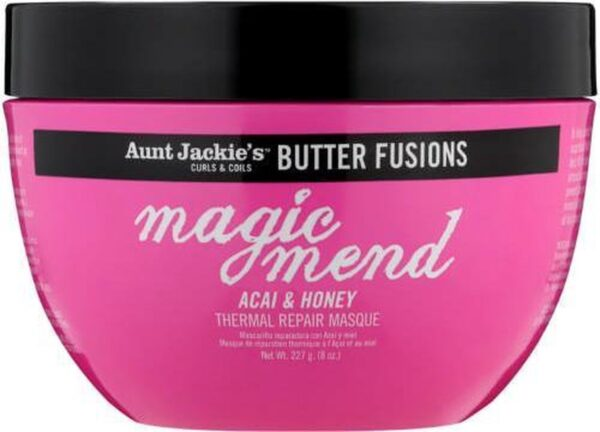 Aunt jackie's butter fusions magic mend ACAI & HONEY thermal repair mask 227g