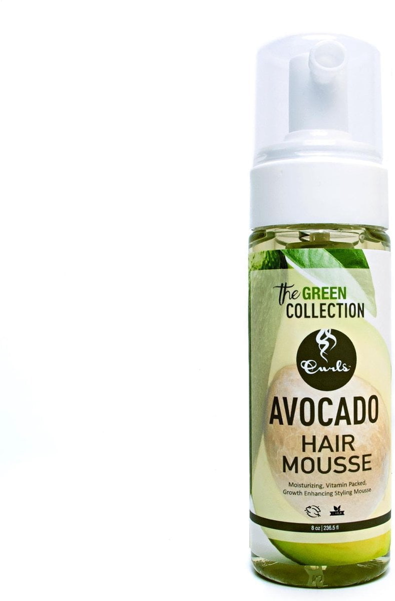 Curls - Green Tea Collection - Avocado Hair Mousse - Mousse Krullend Haar- 237ml