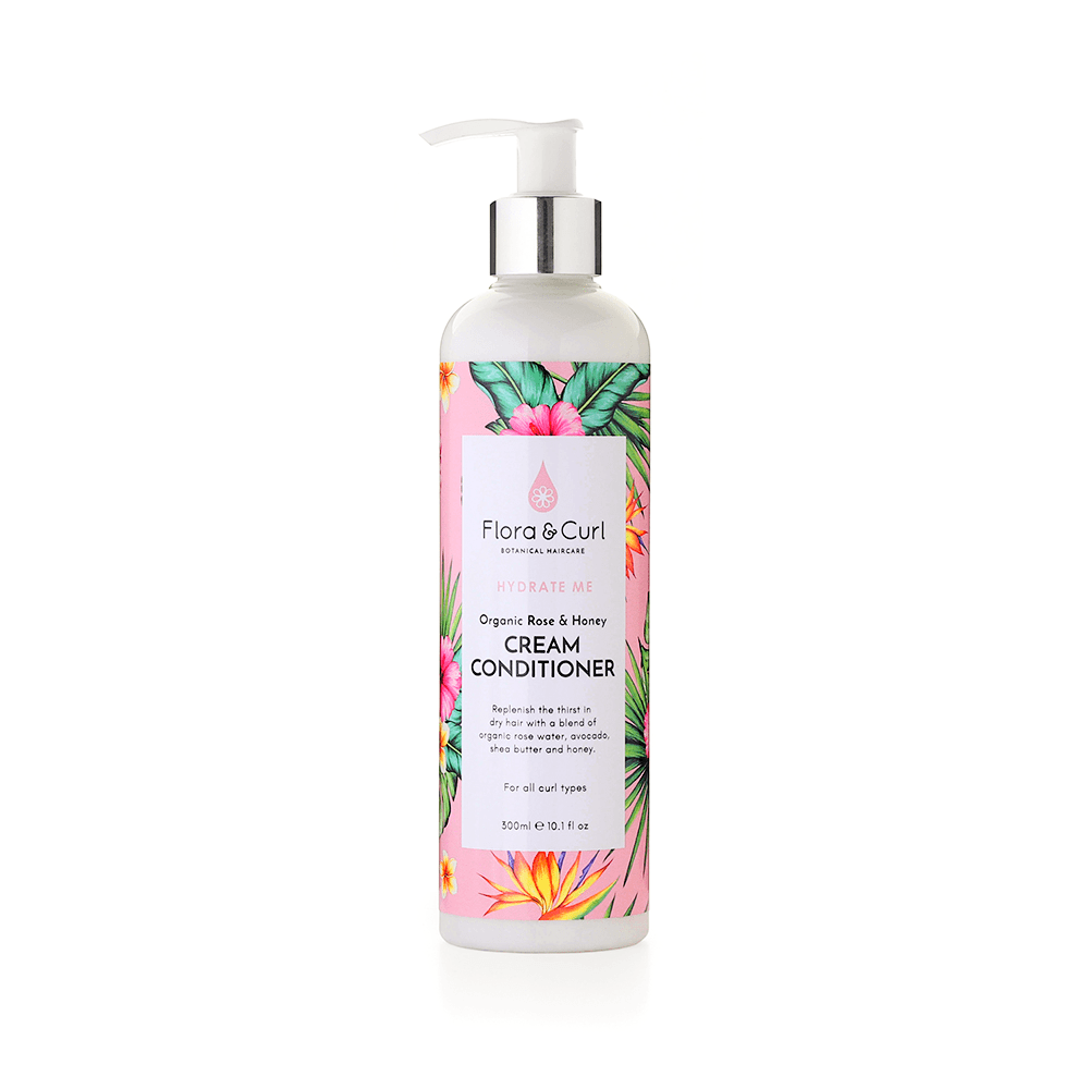 Flora & Curl Organic Rose & Honey Cream Conditioner