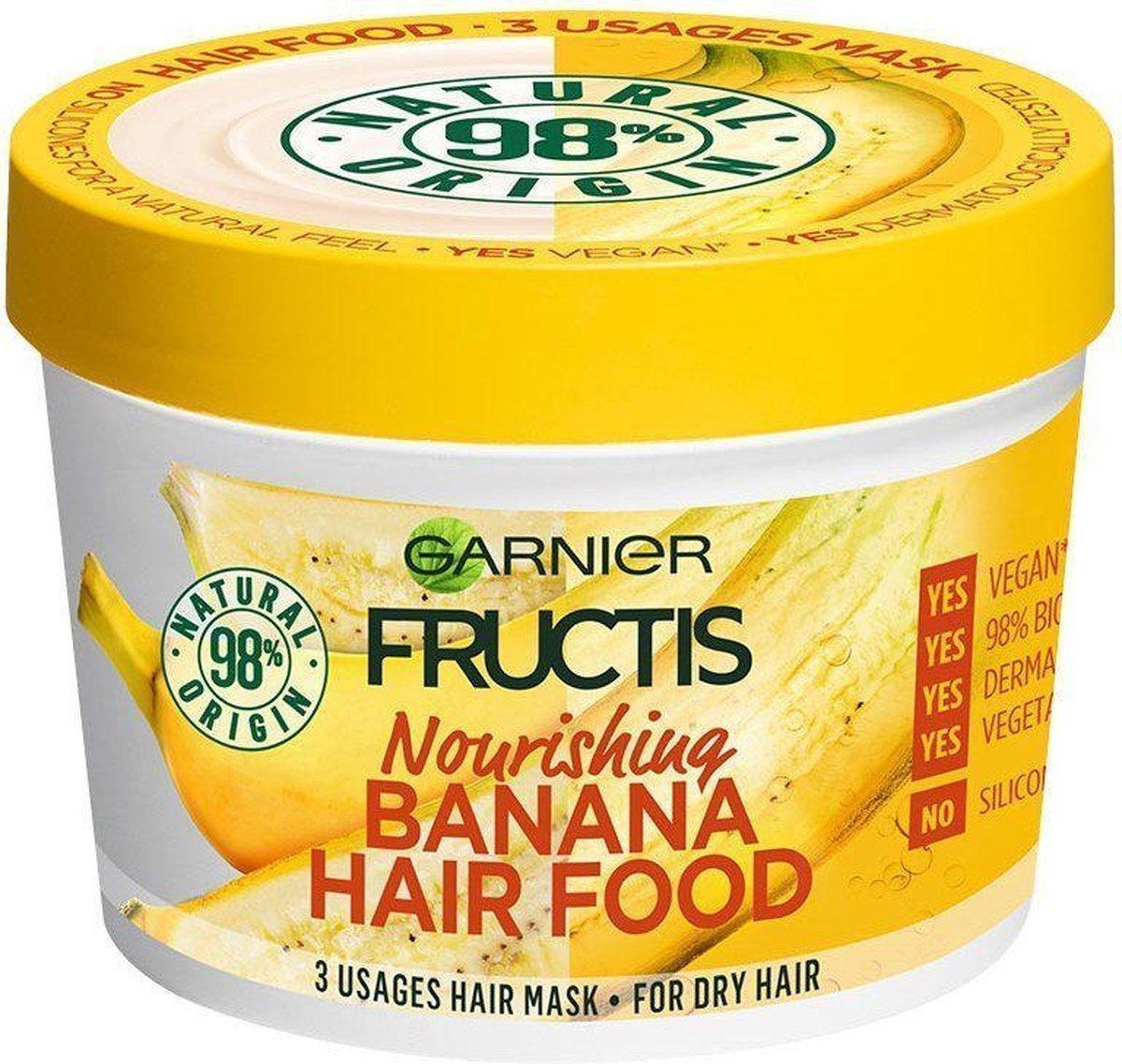 GARNIER - Nourishing Hair Mask Fructis (Banana Hair Food) 390 ml (L)