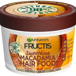 GARNIER - Smoothing Mask for Strong Hair Fructis ( Macadamia Hair Food) 390 ml (L)