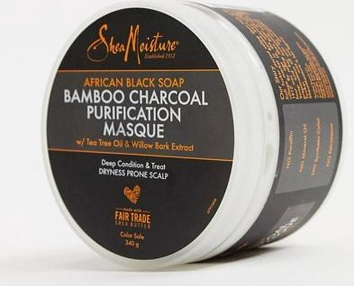 Shea Moisture African Black Soap Bamboo Charcoal Purification Masque 340g