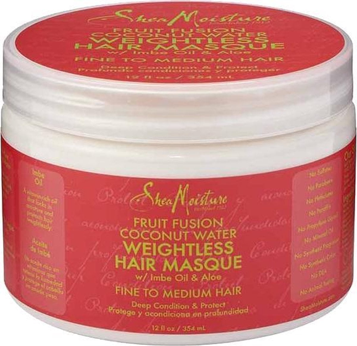 Shea Moisture Fruit Fusion Coconut Water Weightless Hair Masque 354 ml