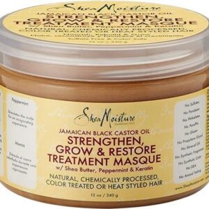 Shea Moisture Jamaican Black Castor Oil Strengthen, Grow & Restore Treatment Masque 340 ml