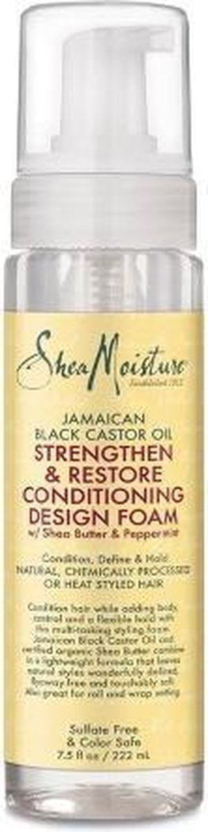 Shea Moisture- Jamaican Black Castor Oil - Strengthen & Restore - Conditioning Design Foam - 222ml