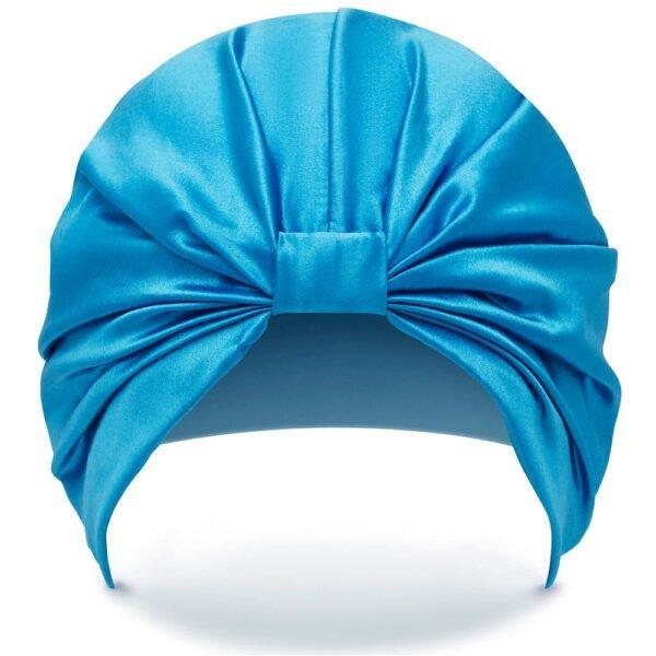 Silke Hairwrap - Front - Blue