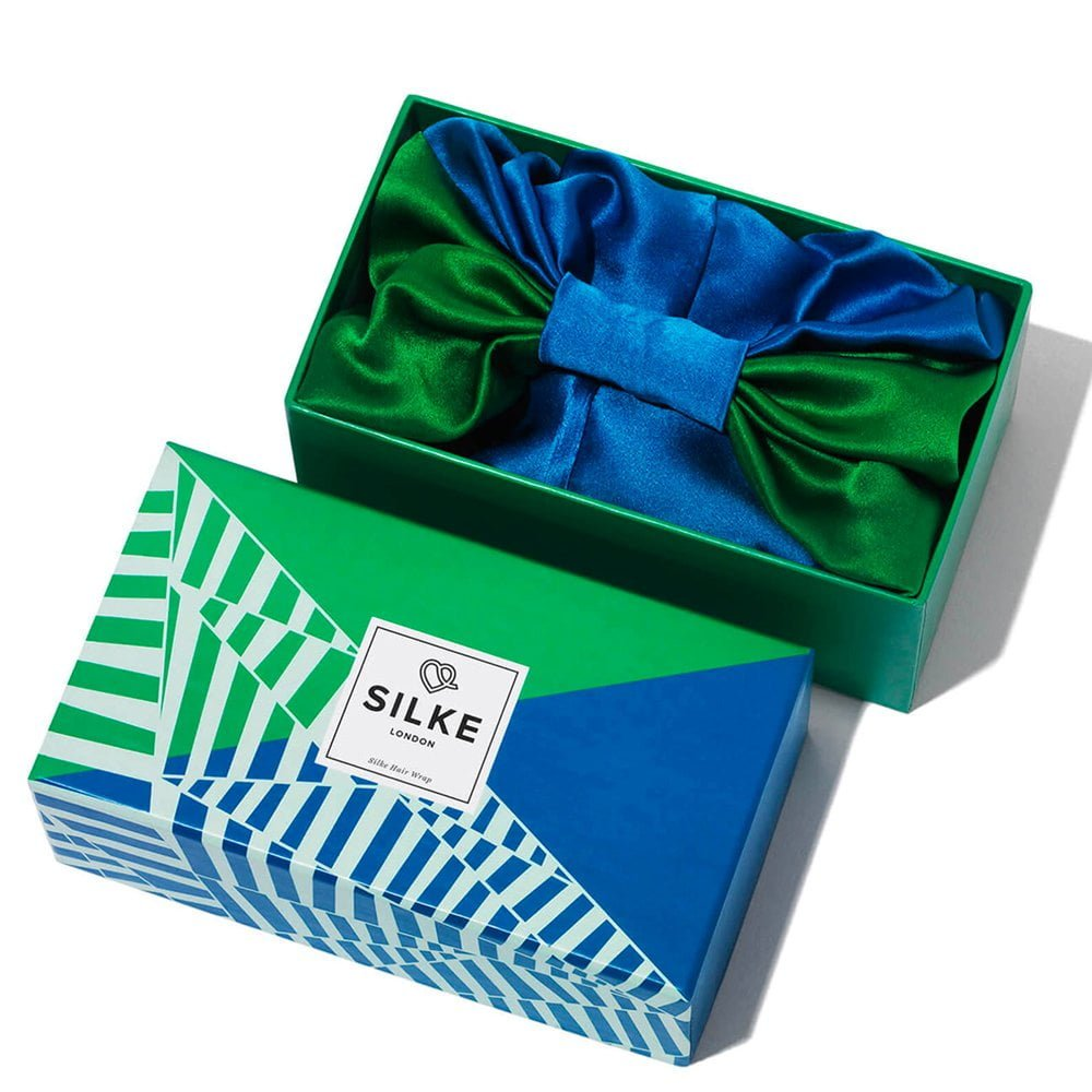 Silke Hairwrap - Package - Blue and Green