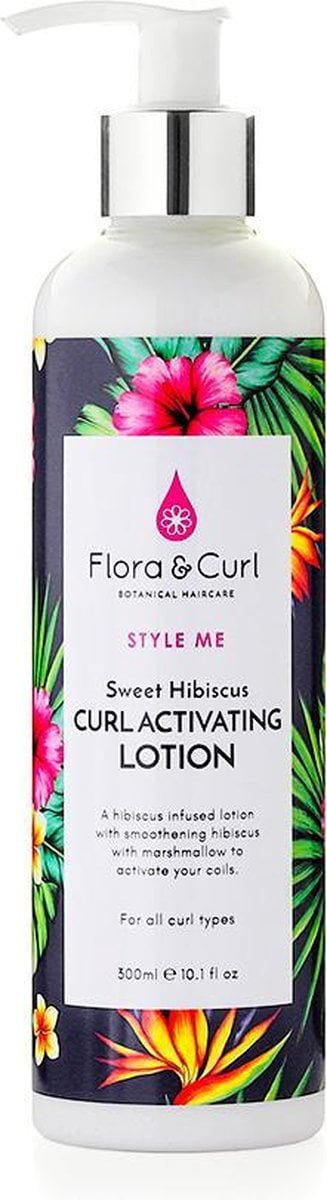 Flora & Curl Sweet Hibiscus Curl Activating Lotion- 300 ml - Curly Girl proof