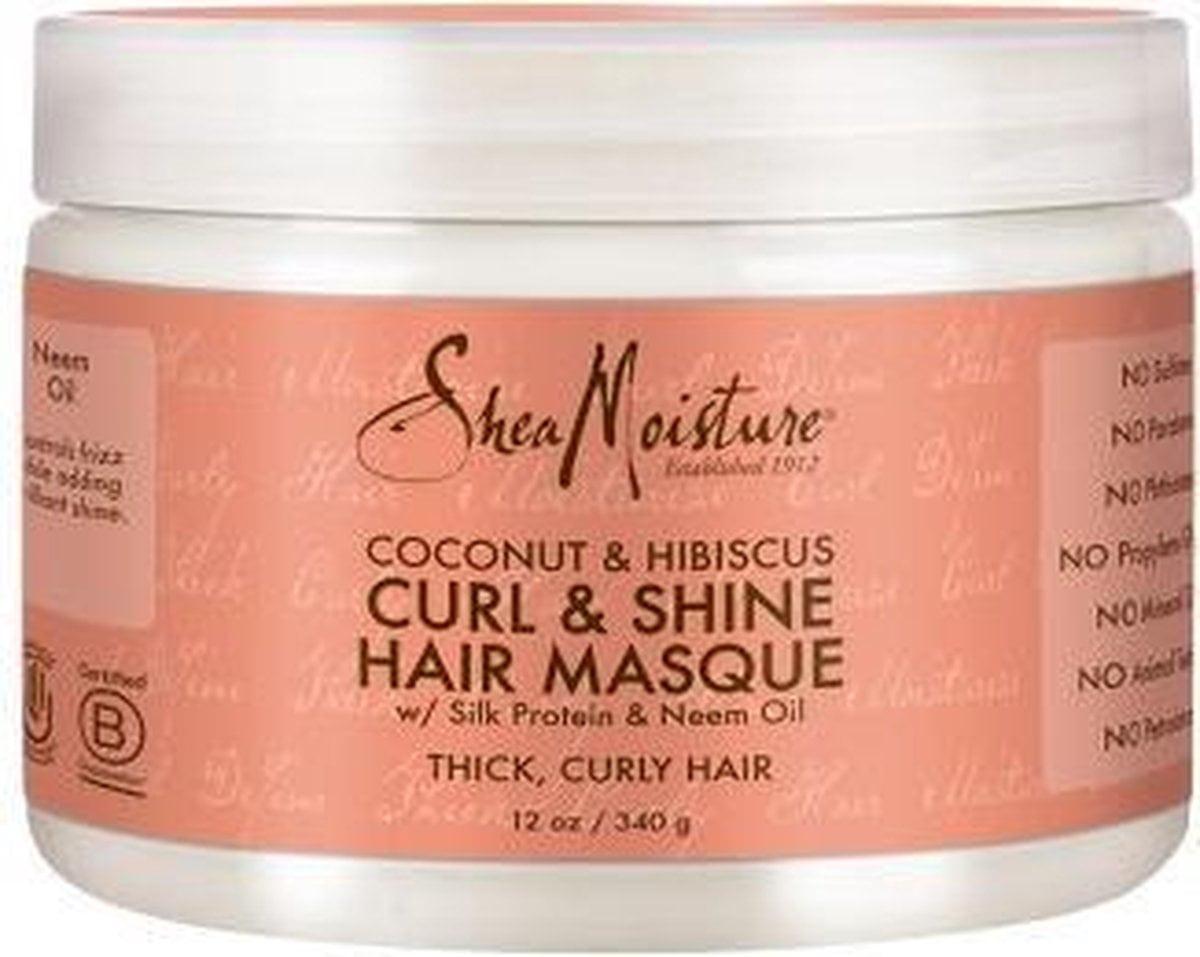 Shea Moisture Coconut & Hibiscus Curl & Shine Hair Masque 340gr