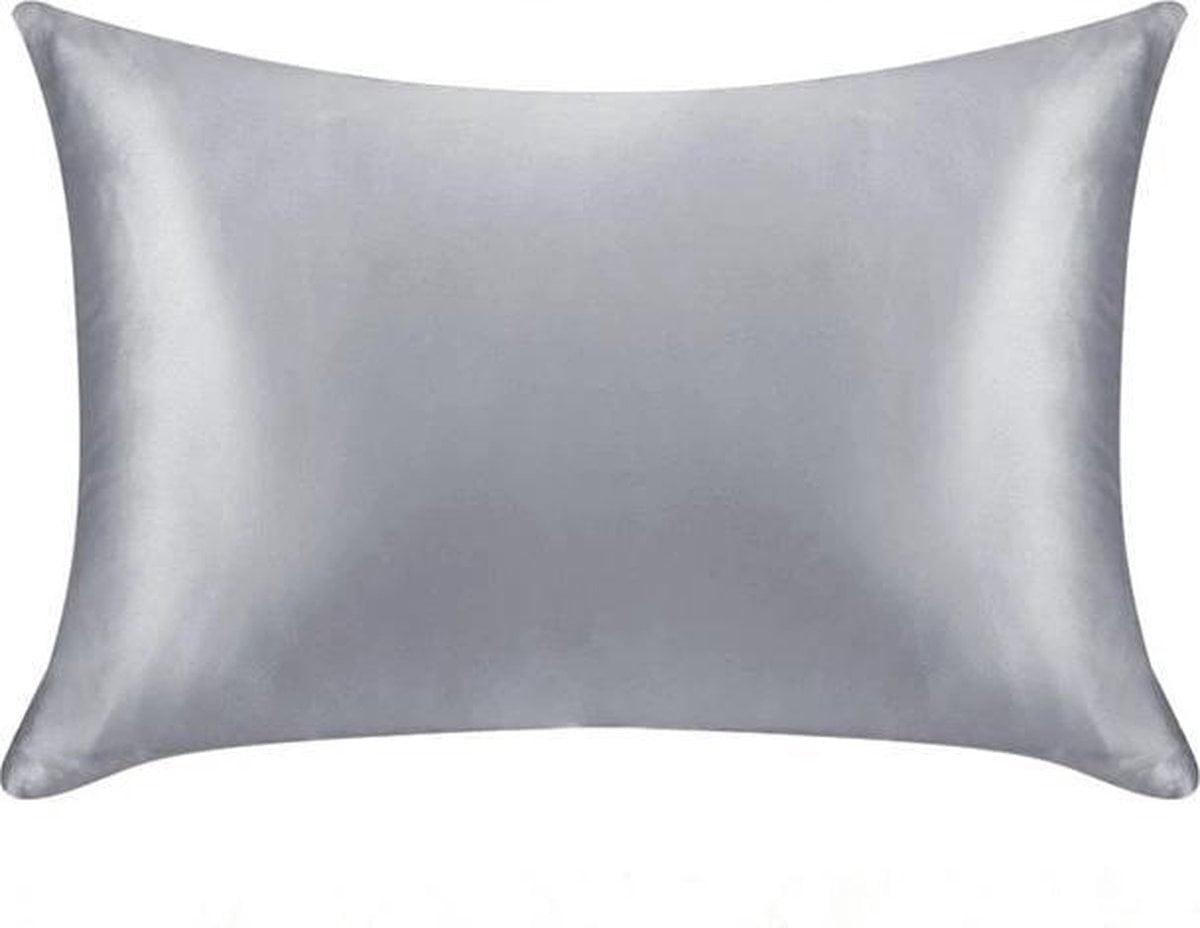 Zijde kussensloop - grijs - 66 cm x 51 cm - 100% Zijden - Moerbei - YOSMO