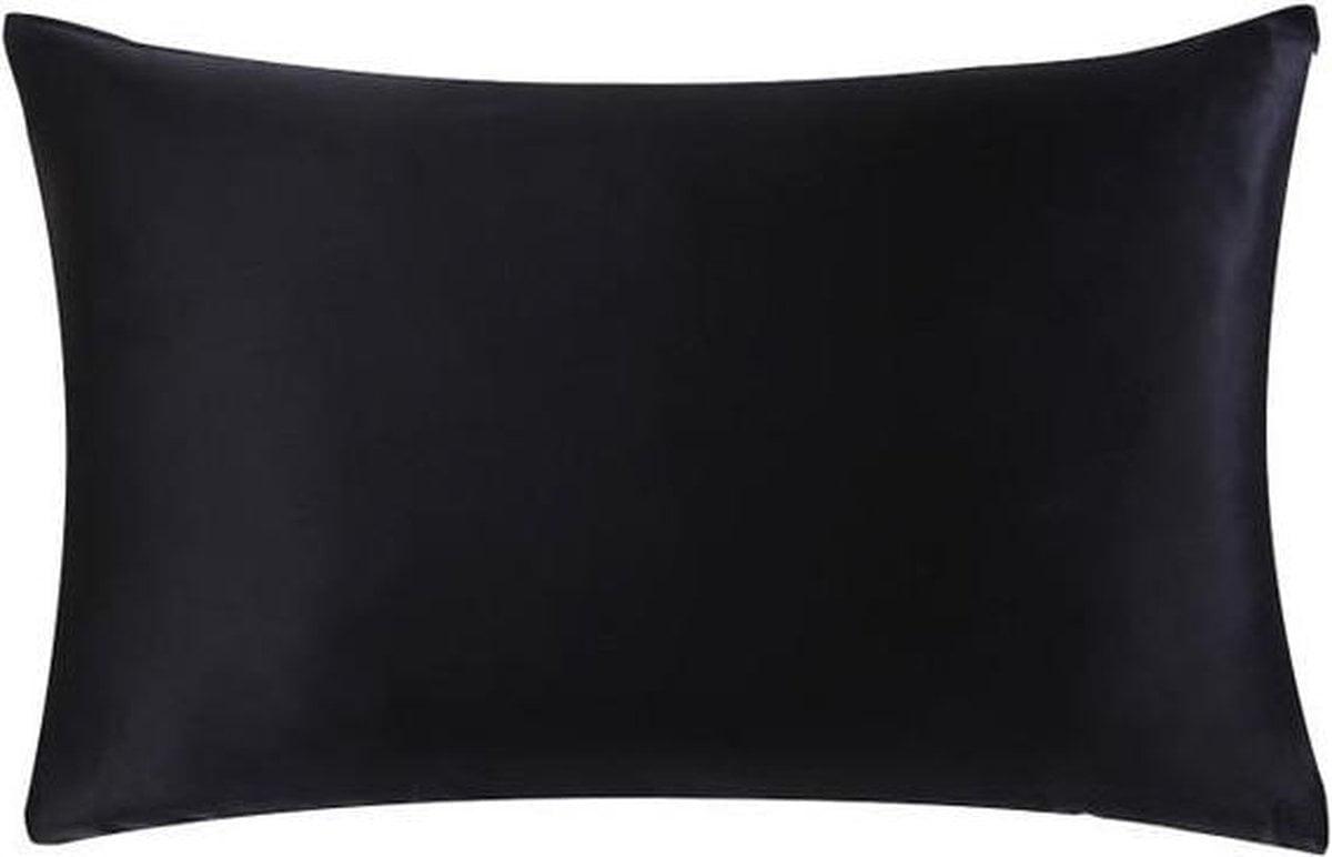 Zijde kussensloop - zwart - 66 cm x 51 cm - 100% Zijden - Moerbei - YOSMO