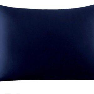 Zijden kussensloop - donkerblauw - 66 cm x 51 cm - Beautyfy Me 100% Zijden Kussensloop - YOSMO