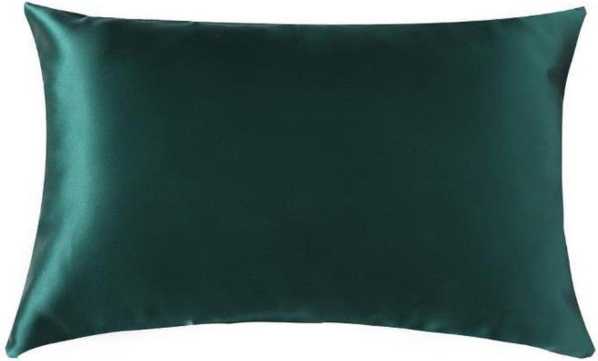 Zijden kussensloop - donkergroen - 66 cm x 51 cm - 100% Zijden - Moerbei - YOSMO