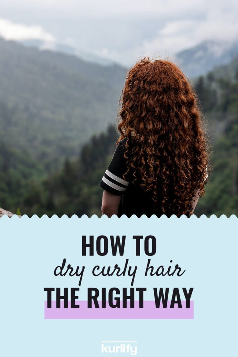 How to dry curly hair the right way