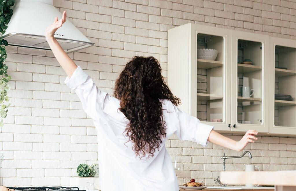 Curls in Kitchen